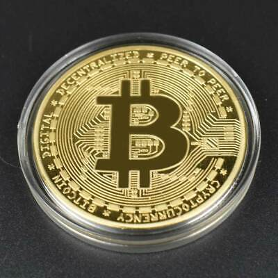 AU3.39 • Buy New 2018 Bitcoin Physical Collectible Coin BTC Gold Plated 1 Ounce 40mm UK STOCK