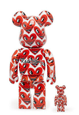 $220 • Buy Medicom BE@RBRICK Keith Haring #6 100% 400% Bearbrick Set Free US Ship!