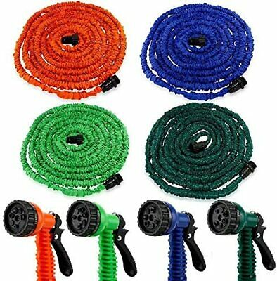 Heavy Duty Expandable Flexible Garden Magic Water Hose Pipe Spray Gun 50FT Blue • 8.99£