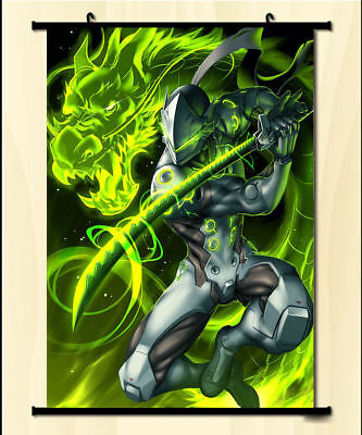 $ CDN15.31 • Buy Anime Poster Cool Game Overwatch OW GENJI Cosplay Wall Home Decor Scroll 40*60cm