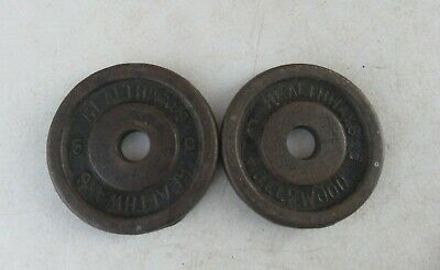 $ CDN30.26 • Buy Vintage Healthways Weight Plates 2 - 5 Lbs. Standard Size Weights 1  Hollywood