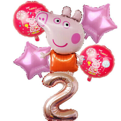£8.49 • Buy Large Peppa Pig Balloon 31  George Birthday Party Foil Air Helium Fill Balloons