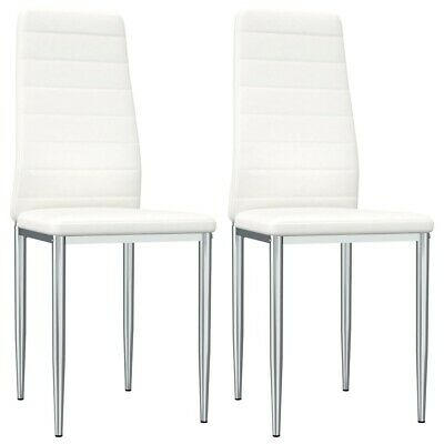 AU111.95 • Buy New Dining Chairs 2 Pcs White Faux Leather 7391