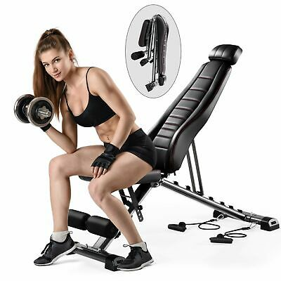 Adjustable Weight Bench Utility Exercise Workout Bench Home Strength Training • 111.49£