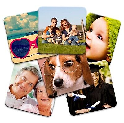 £9.99 • Buy Set Of 6 Personalised Square Photo Coasters!