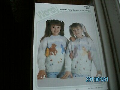Knitting Pattern For My Little Pony Sweater And Cardigan 26-30 Chest In DK • 1.69£
