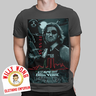 £9.99 • Buy Escape From New York T-Shirt Retro Tee Movie Film 80s Snake Poster Casual 2