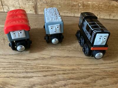 Thomas & Friends Wooden Giggling Troublesome Trucks Set With Diesel - Rare Item • 39.99£