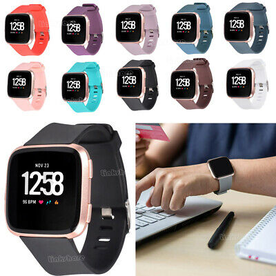 $ CDN4.60 • Buy For Fitbit Versa 1/Lite Watch Band Replace Classic Soft Wrist Strap Watchband Mu