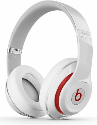 Genuine Beats By Dr. Dre Studio 2.0 Wired Over Ear Headphones White • 111£