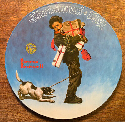$ CDN18.73 • Buy Norman Rockwell Christmas Limited Edition Edwin Knowles Plate 1981 Collectible