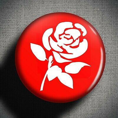 LABOUR PARTY Pin Badge Button (1 Inch 25mm) UK Politics England Vote Rose Logo • 0.99£