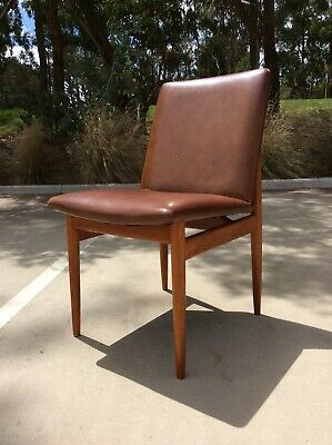 AU49.99 • Buy *PARKER* Mid Century TEAK Dining Chair RETRO ACCENT CHAIR Study Stool. Project