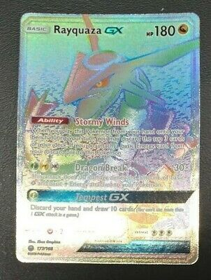 $ CDN253.21 • Buy Rayquaza GX 177/168 Celestial Storm Rainbow Secret Rare