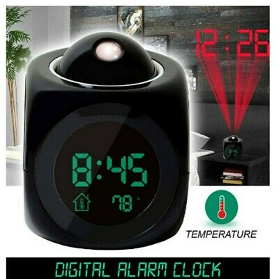 AU13.99 • Buy LCD Voice Talking Projection Time Alarm Clock Temperature Projector LED Digital