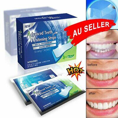 AU11.70 • Buy 28 White Strip Teeth Whitening Strips Professional Advanced Tooth Bleaching AT