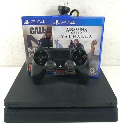 AU202.50 • Buy Sony Playstation 4 PS4 CUH-2102B Slim 1TB Black Gaming Console + 2x Games
