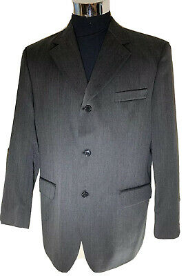 £29.99 • Buy Horne Brothers Mens Suit Dark Grey P/Stripe Jacket Chest 42R Trousers W36  IL32