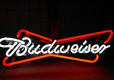 $ CDN94.18 • Buy New Budweiser Acrylic Real Glass Neon Sign 14 X7  Wall Decor Artwork Gift
