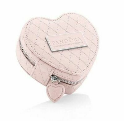 AU60 • Buy Authentic Pandora PINK Heart Jewellery Box Case W Pouch Limited Edition.