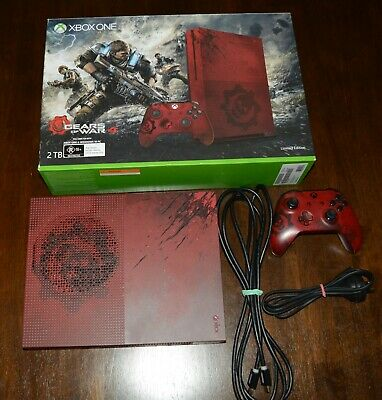AU459.99 • Buy Xbox One S Gears Of War 4 Limited Edition Red 2tb Console Bundle
