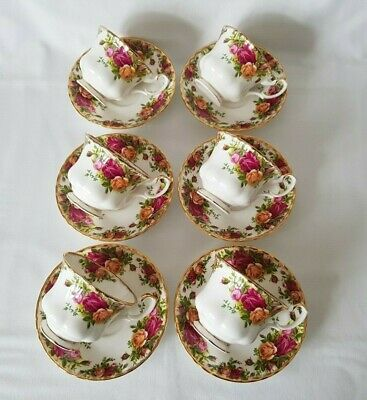 Set Of 6 Royal Albert English Bone China Old Country Roses Tea Cups & Saucers • 44.99£