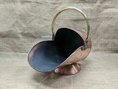 Vintage Copper And Brass Coal Scuttle • 68£