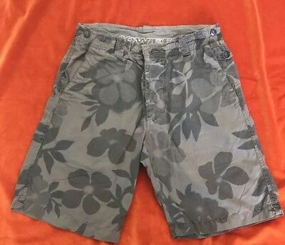 £11.99 • Buy 40 Weft Hibiscus Floral Camouflage Cotton Khaki Casual Shorts Size Small