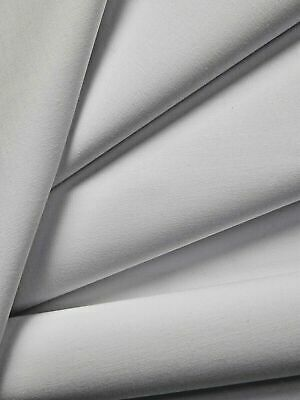 £4.99 • Buy Double Width White Cotton Twill Curtain Lining Fabric Material 274cm Wide - 160g
