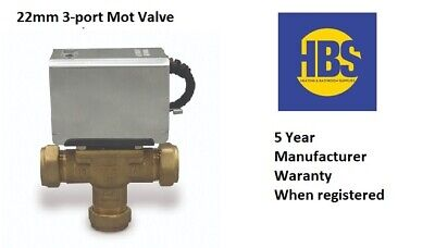 3 Port 22mm Mid-Position Valve ,Replacement For V4073 Replacement For Honeywell • 39.99£