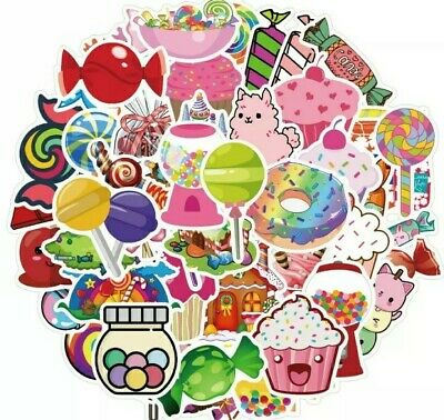 £3.99 • Buy Candy Sweet Stickers Set Of 50 Stickers For Water Bottle Diary Scooter Laptop