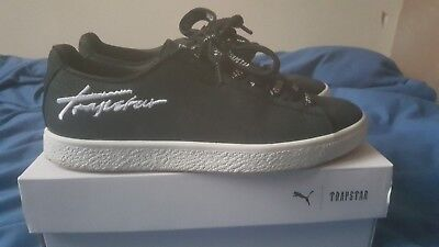 Men's Puma X Trapstar Clyde Trainers Bold Black Size Uk 8 • 69.99£