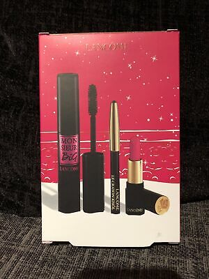 Lancome Paris Mr Big Volume Mascara Set With Rouge Drama Lipstick & Khol *NEW* • 24.99£