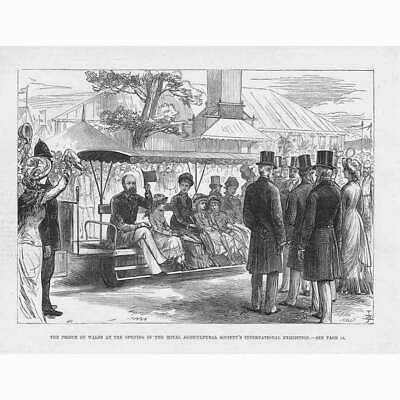 £9.95 • Buy Prince Of Wales At The Royal Agricultural Society Show - Antique Print 1879