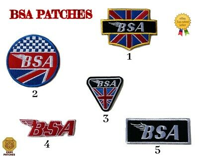 Bsa Motorcycle Bantam British Flag Union Jack Bike Biker Badge Iron Sew On Patch • 1.99£