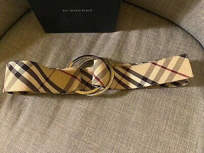 Vintage Burberry Fabric Nova Check Belt With Original Box, Used But Excellent.  • 65£