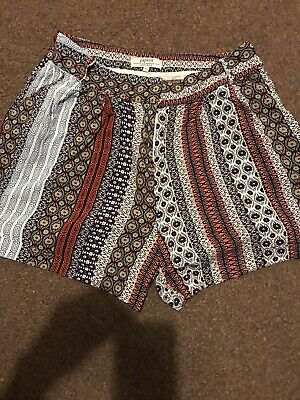 Ladies Shorts Size 10 With Matching Tie Belt • 3.99£