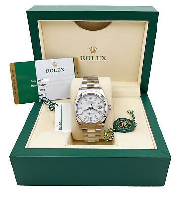$ CDN10878.69 • Buy Rolex 126300 Datejust 41 White Index Dial Stainless Steel Box Papers 2019