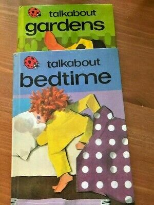 Vintage 1976/7  2Ladybird Books Talkabout Gardens & Bedtime - V.G. Condition  • 2.29£