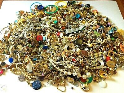 $ CDN47.97 • Buy Unsearched Jewelry Vintage Modern Big Lot Junk Craft Box 3 - 4 Lbs POUNDS Pieces