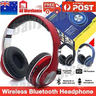 AU24.89 • Buy Noise Cancelling Wireless Headphones Bluetooth 5.0 Earphone Headset With Mic AU