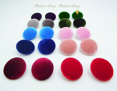 £3.40 • Buy Set Velvet Fabric Buttons 28mm. Garment Accessories Toys School Party Craft Gift