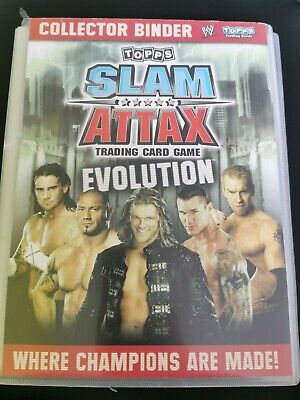 £30 • Buy WWE Slam Attax Evolution - 93% Complete Collection 2008 Binder 174 Cards Topps