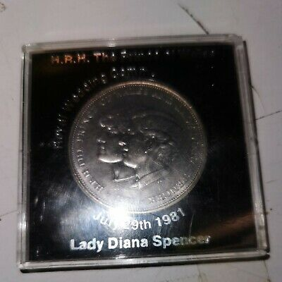 1981 Prince Of Wales & Lady Diana Spencer Royal Wedding Commemorative Crown Coin • 1.99£