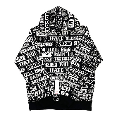 $ CDN350.67 • Buy Supreme Hysteric Glamour Text Hoodie Black FW17SW37 Men's Size XL