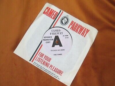 £29.99 • Buy The Tymes Demo To Each Is Own Cameo Parkway Ex Ex Cat No 908.uk Promo