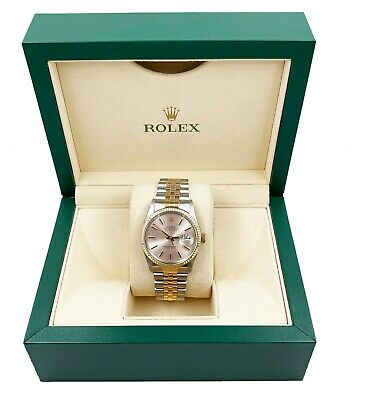$ CDN8485.99 • Buy Rolex 16253 Datejust Silver Dial 18K Yellow Gold Stainless Steel With Box