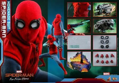 $ CDN298.07 • Buy Hot Toys 1/6 MMS552 - Spider-Man: Far From Home Spider-Man (Homemade Suit) READY
