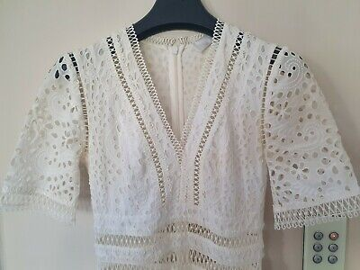 AU250 • Buy Zimmermann 'Lovelorn' Cream Lace Dress Sz 0