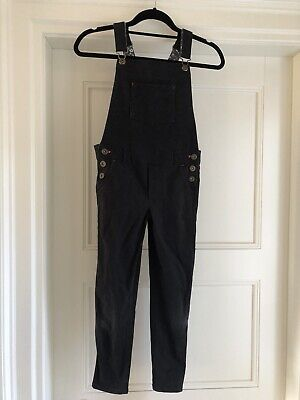 Girls Boden Black Denim Dungarees Age 9-10 Years • 1£